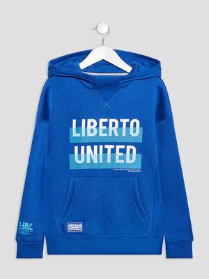 Sweat a capuche Liberto bleu garcon