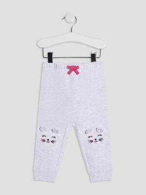 Pantalon droit gris bebef