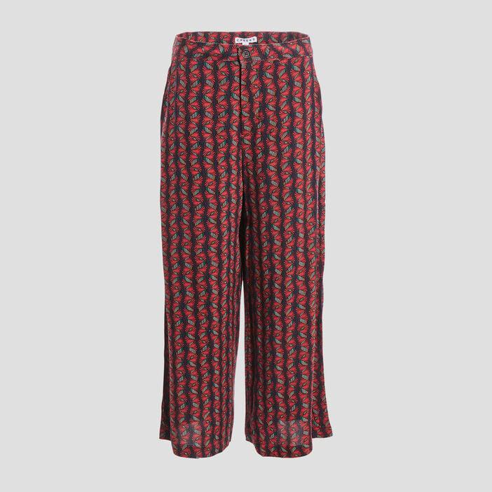 Pantalon large fluide Creeks femme rouge