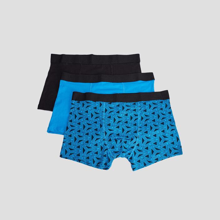 Lot 3 boxers homme bleu