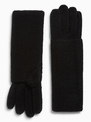 Paire de longs gants noir mixte