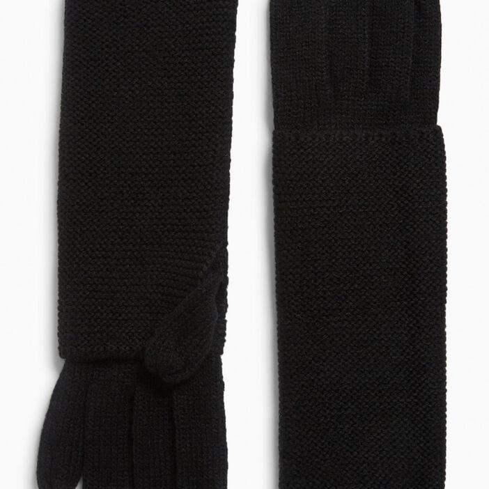 Paire de longs gants mixte noir