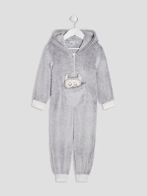 Combinaison de pyjama gris fille