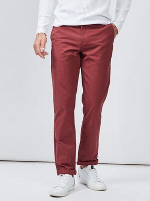 Pantalon droit bordeaux homme