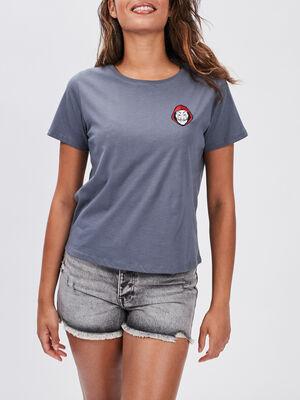 T shirt La Casa de Papel gris clair femme