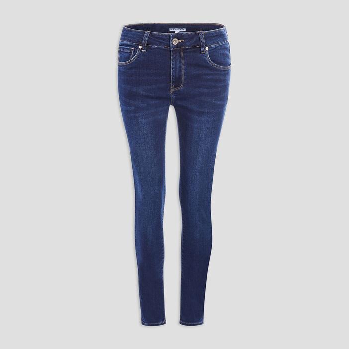 Jeans skinny 7/8ème Creeks femme denim brut