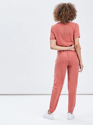 Combinaison pantalon fluide terracotta femme