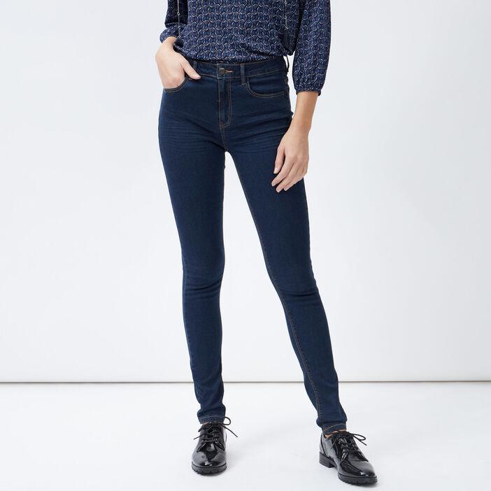 Jeans slim taille standard femme denim brut