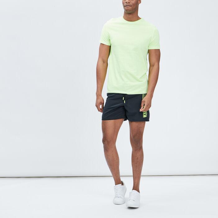 T-shirt manches courtes homme jaune fluo