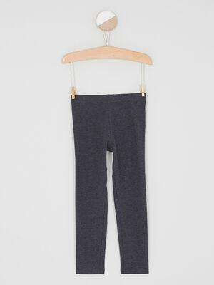 Legging coton majoritaire uni gris fonce fille