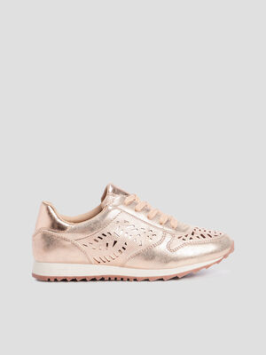 Baskets avec perforations rose femme