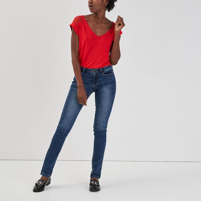 T-shirt manches courtes femme rouge