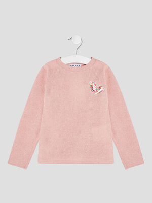 Pull manches longues Creeks rose fille