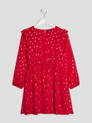 Robe evasee Liberto rouge fille
