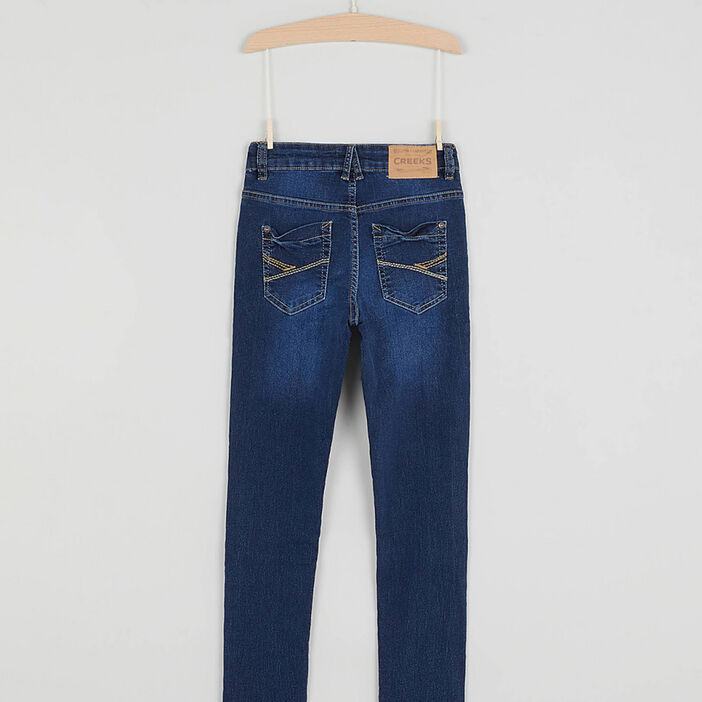 Jean green wash halle'avenir garçon denim double stone