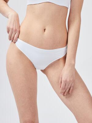 Culotte string microfibre blanc femme