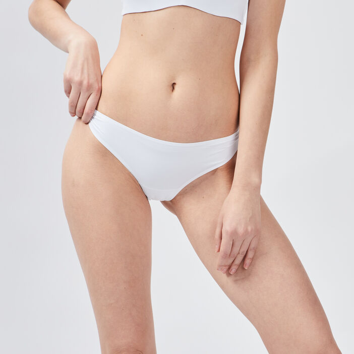 Culotte string microfibre femme blanc