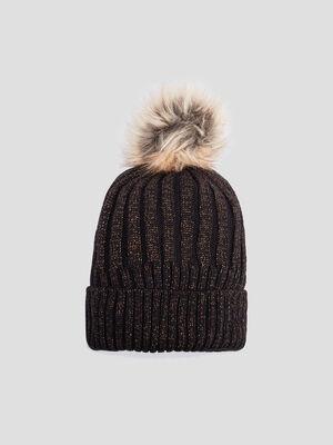 Bonnet a pompon noir