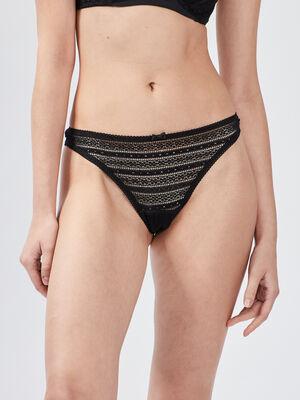 Culotte string noir femme