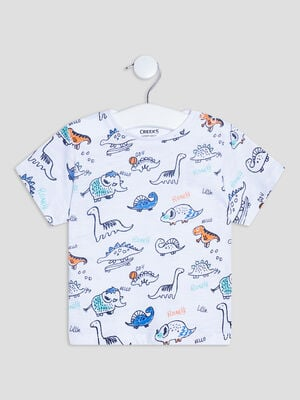 T shirt manches courtes Creeks blanc bebeg