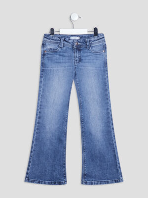 Jeans flare taille ajustable Creeks denim double stone fille