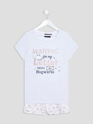 Ensemble pyjama Harry Potter gris clair fille