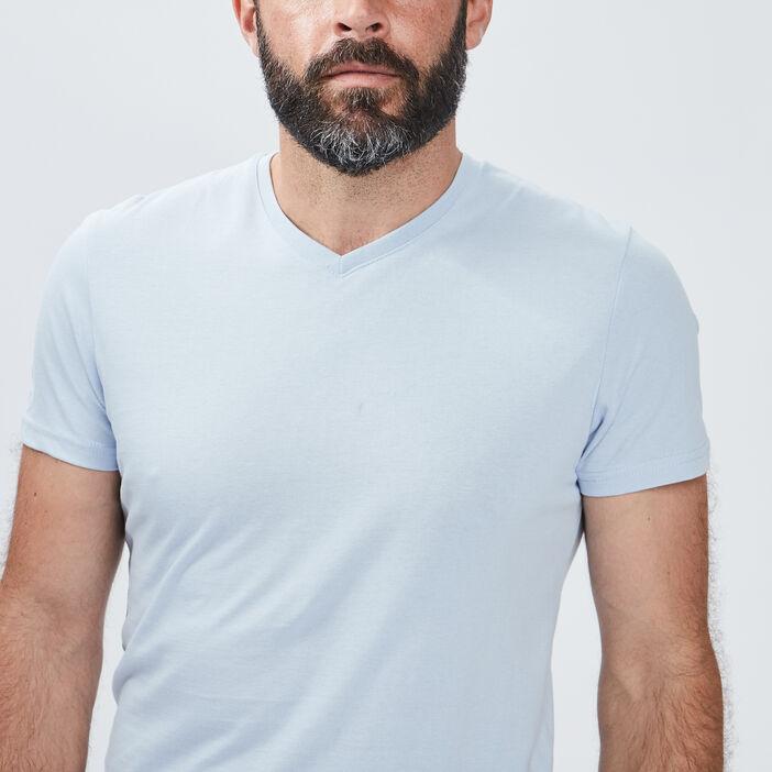 T-shirt manches courtes homme bleu ciel