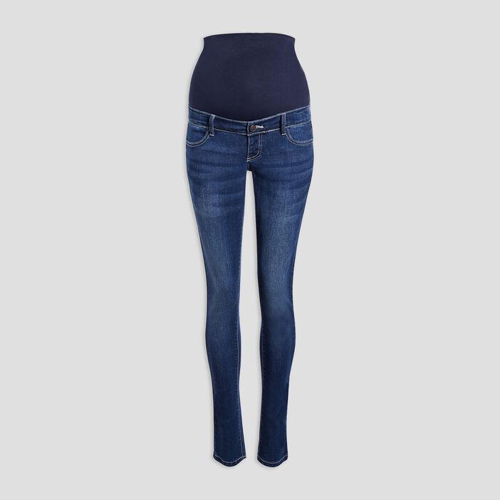 Jeans slim grossesse femme denim brut