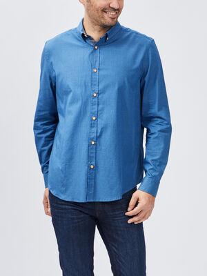Chemise manches longues Creeks bleu homme