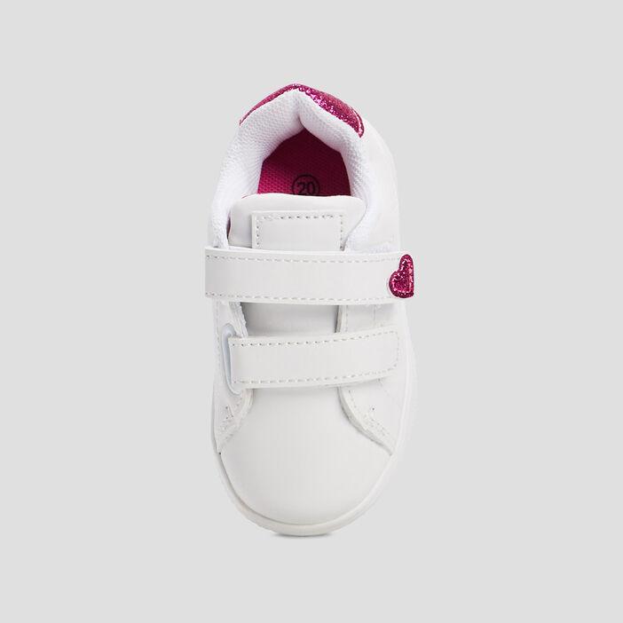 BASKETS/TENNIS BASSES bébé blanc