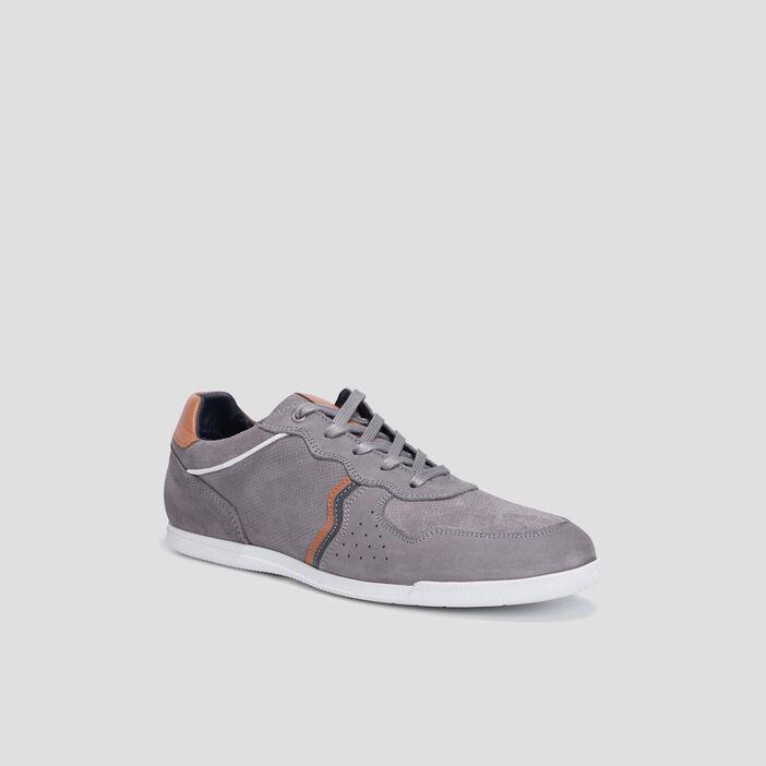 Sneakers à lacets homme gris