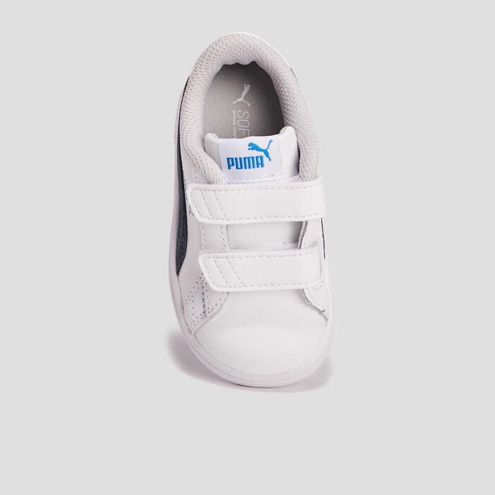 Tennis Puma en cuir bébé garçon blanc