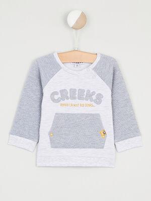 Sweatshirt en coton majoritaire gris garcon