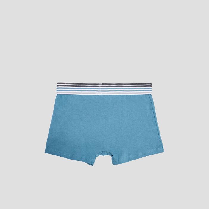 Lot 3 boxers homme bleu canard
