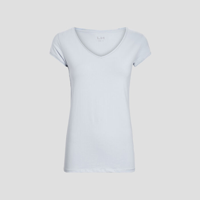 T-shirt manches courtes femme bleu ciel