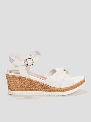 Sandales compensees Andre blanc femme
