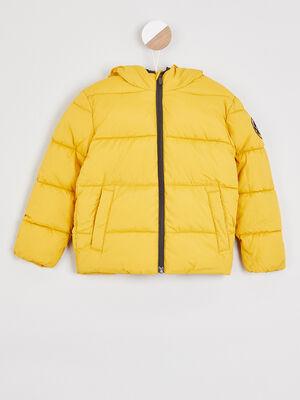 Doudoune zippee a capuche jaune garcon