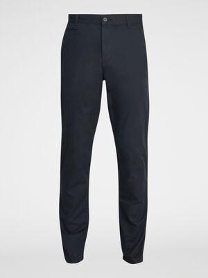 Pantalon droit uni noir homme