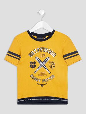 T shirt Harry Potter jaune moutarde garcon