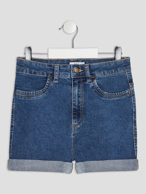 Short droit en jean denim stone fille