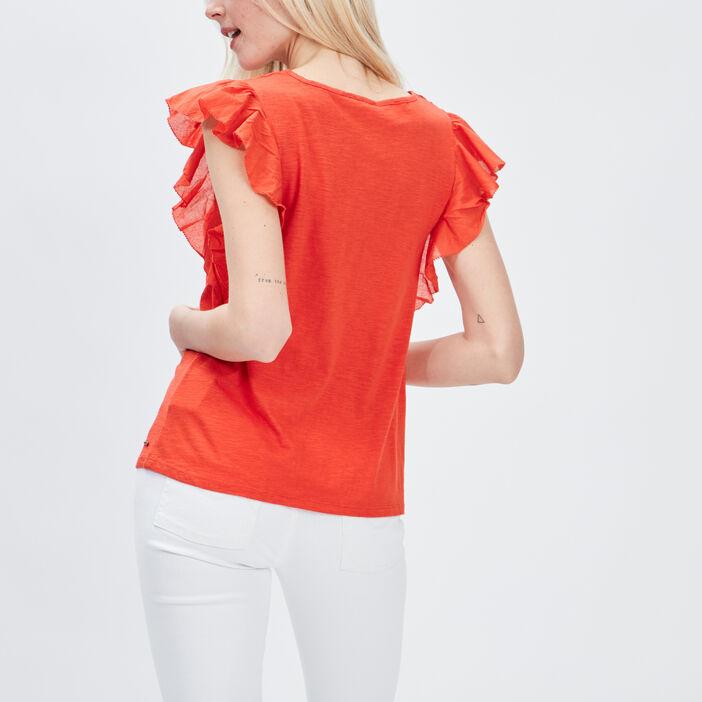 T-shirt manches courtes Creeks femme orange