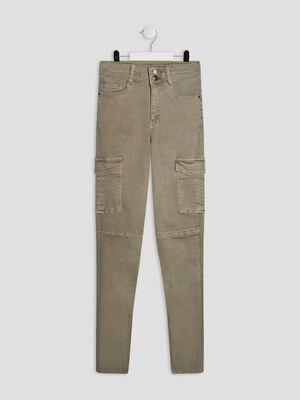 Pantalon battle vert kaki fille