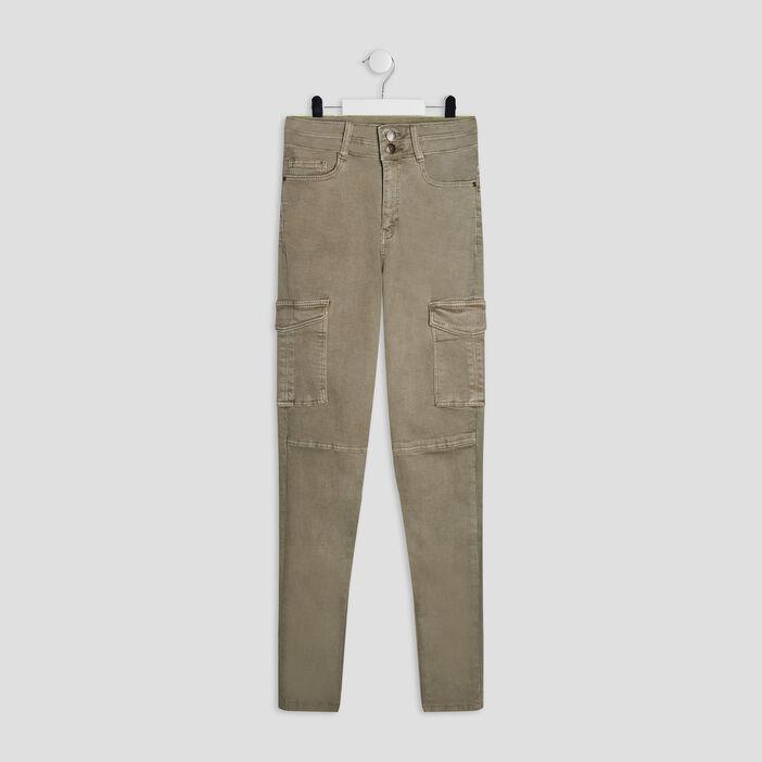 Pantalon battle fille vert kaki