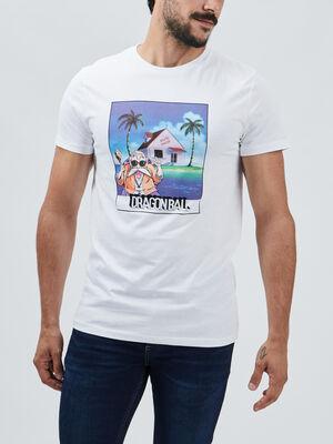 T shirt Dragon Ball blanc homme