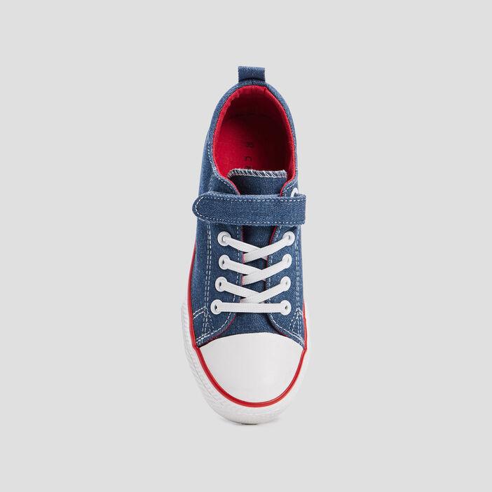 Tennis en jean Creeks garçon bleu