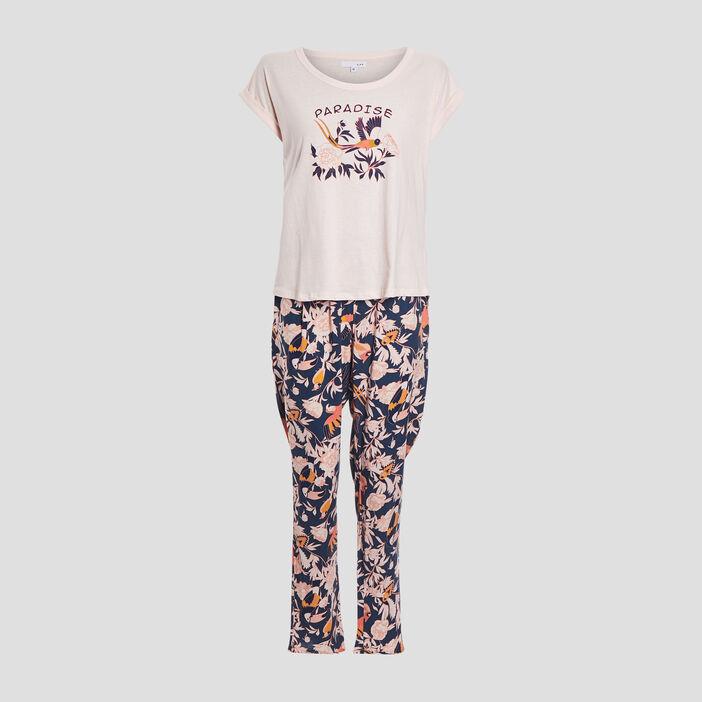 Ensemble pyjama 2 pièces femme rose