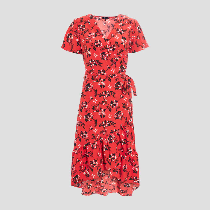 Robe portefeuille Mosquitos femme rouge