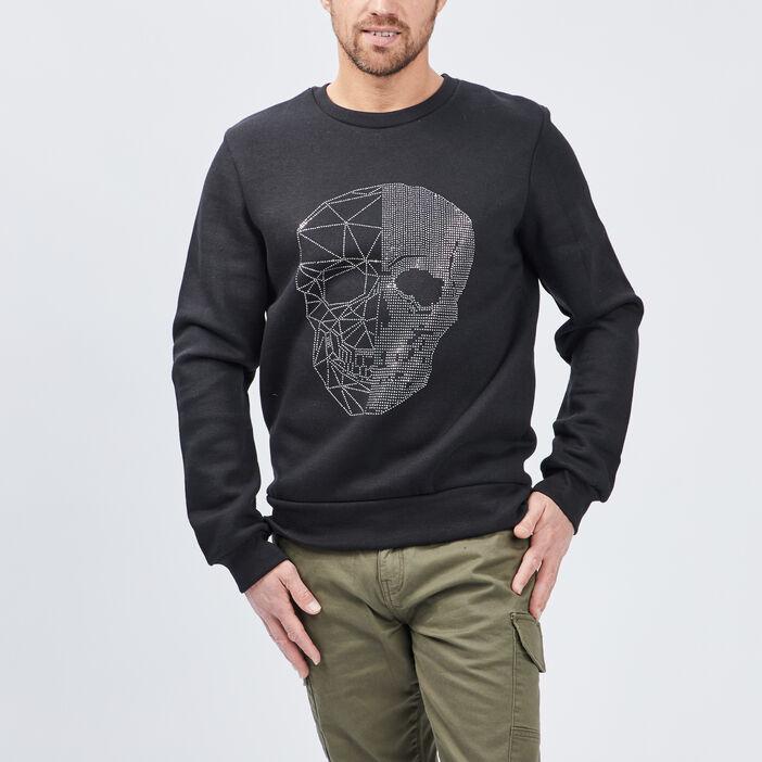 Sweatshirt homme noir