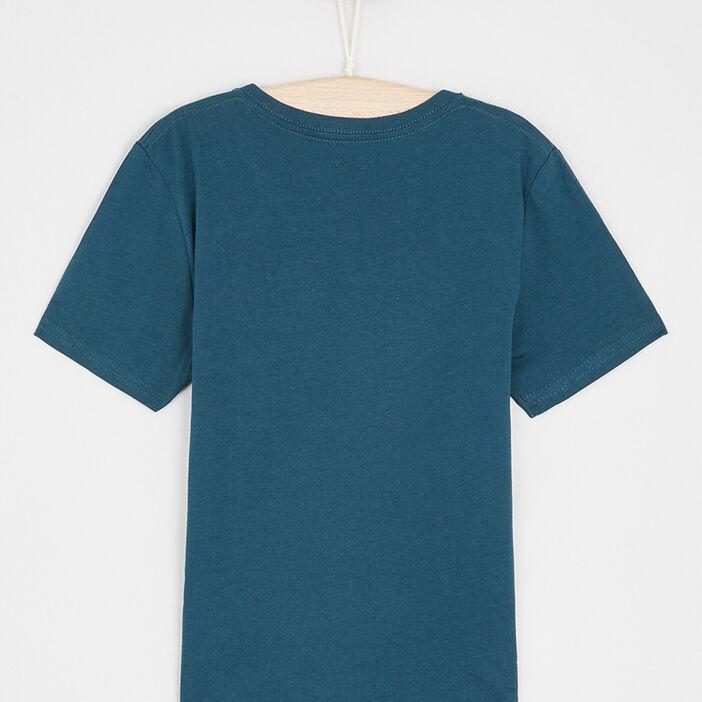 PAS DE VISUEL T-shirt avec col en V garçon bleu canard