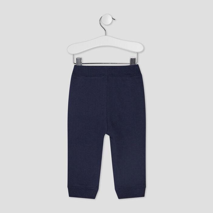 Pantalon jogging droit bébé garçon bleu marine